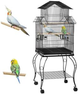Topeakmart Triple Roof Top Large Bird Cage for Parrot Parake