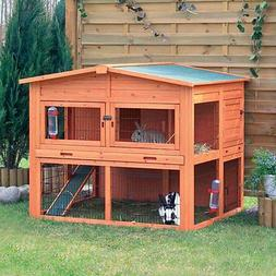 TRIXIE 2-Story Rabbit Hutch With Attic - Extra Large, XL