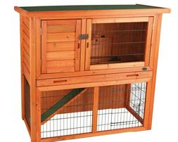 Trixie Pet Rabbit Hutch with Sloped Roof 57.00 lbs,