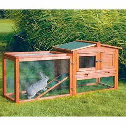 TRIXIE Rabbit Hutch with Outdoor Run - Extra Small, glazed p