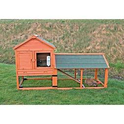 TRIXIE Rabbit Hutch with Outdoor Run and Wheels, XL
