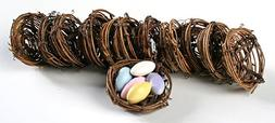 Package of 12 Twig Birds Nests Made of Natural materials