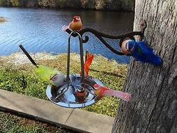 stainless steel hanging bird bath, and waterer. the latest