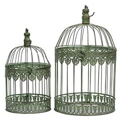 Benzara Unique 2 piece Metal Bird Cage