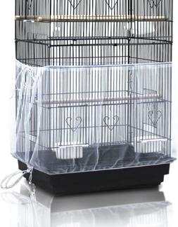 Universal Birdcage Cover Seed Catcher Nylon Mesh Parrot Cage