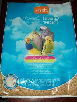 Hartz Universal Gravel Paper Bird Cage Liners - 9 Pack ~ Fre