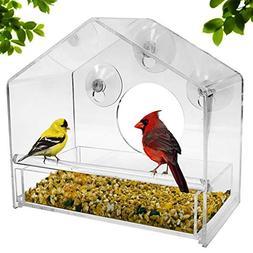 Nature Gear Window Bird Feeder - Refillable Sliding Tray - W