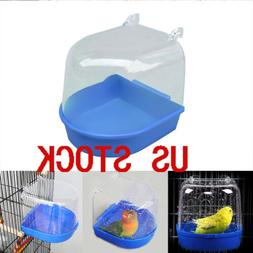 US Clean Parrot Bird Bathtub Box Bath Shower Standing Wash B