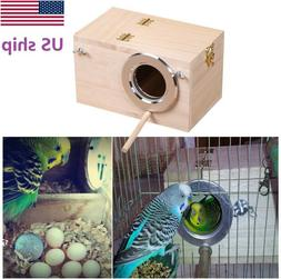 USA Hot Solid Wood Nest Box Nesting Boxes For Small Birds Pa