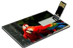 Luxlady 32GB USB Flash Drive 2.0 Memory Stick Credit Card Si