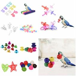 Various Parrot Bird Toy Parts DIY Accessory Cage Perch Swing