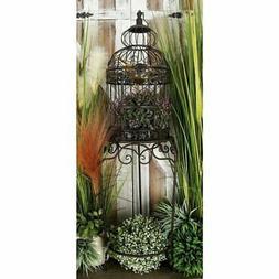 """Benzara 55122 Victorian Style Bird Cage, 47"""" H/14 W"""