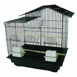 YML 18-Inch by 14-Inch Small Villa Top Bird Cage, Black
