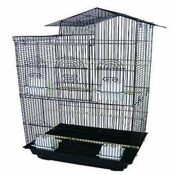 Villa Top Small Bird Cage - Color: Black