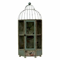 Vintage Antique Metal Bird Cage House Home Decor Decorative