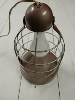 Vintage Sun Valley Bird Cage Hanging Heat Lamp Metal Brown 1
