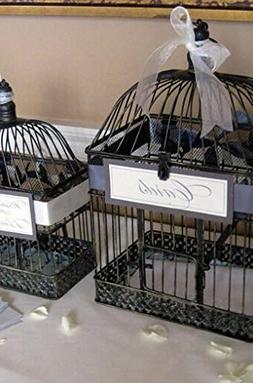 Richland Vintage Birdcages Black Metal Set of 2