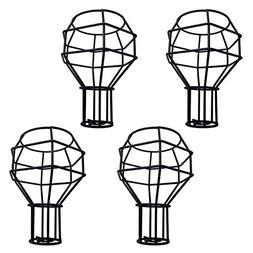 4pcs Vintage Cage Lampshade, Motent Industrial Retro Metal B