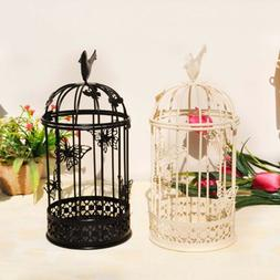 Vintage Metal Bird Cage Candle Holder Stand Hook Lantern Wed