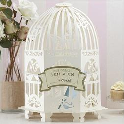 Ginger Ray VL-223 Ivory Vintage Birdcage Wedding Card Post B