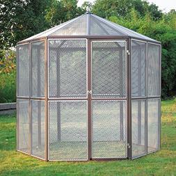 "JAXPETY 93"" Large Walk-in Bird House Hexagonal Design Aviary"