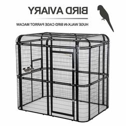 Walk In Bird Aviary Flight Cage Large Iron Wire Parrot Cocka