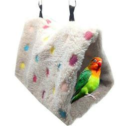 Warm Bird Hut Toy Triangle Nest Pet Hammock Hang Cave Bed Pa