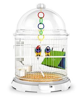 BioBubble White Acrylic Bird Bundle, 16 Inch Width x 21-1/2