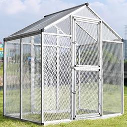 WALCUT Aluminum Large Bird Cage/three doors Aviary Bird Hous