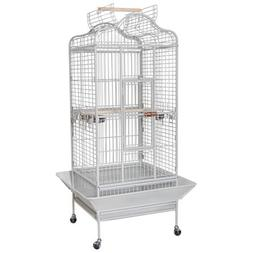 White Dome House Open Play Top Parrot Bird Cage