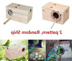 Wild Bird Parrot Box Wooden Finch Bird Nesting Box Clear Vie