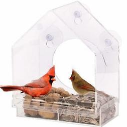 Window Bird Feeders Clear Glass Cages Window