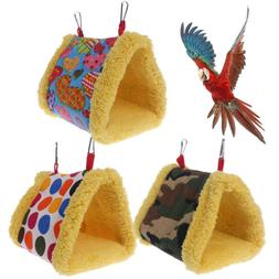 Winter Warm Bird Cage Parrot Hammock Hanging Bed Cave House