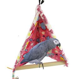 Winter Warm Bird House Bed Perch for Parrot Macaw African Gr