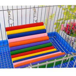 Wood Bird Parrot Colorful Ladder Exercise Toy Entertainment