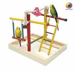 Penn Plax Wood Bird Playpen, Parrot Playstand Bird Playgroun