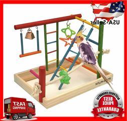 Penn Plax Wood Bird Playpen Parrot Playstand Bird Playground