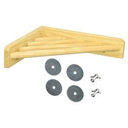 Wood <font><b>Corner</b></font> Shelf Laddered <font><b>Cage