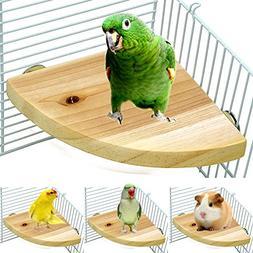 Borange Wood Perch Bird Platform Parrot Stand Playground Cag