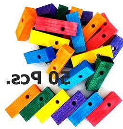 Wood Wooden Blocks Bird Parrot Cage Parts for Bird Toys Mult