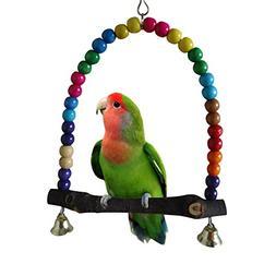 Vktech® Wooden Bird Parrot Swing Toys Parakeet Cockatiel Lo