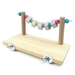 Hypeety Wooden Bird Perch Platform Pet Natural Chewing Toys