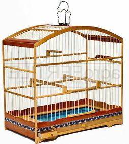 Wooden birdcage for small birds collared seedeater coleirinh