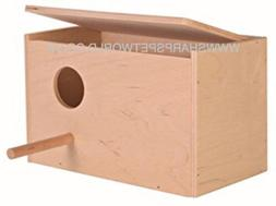 Trixie Wooden Budgie Nest Nesting Box & Perch For Cage Aviar