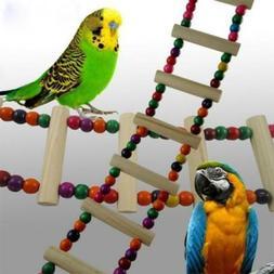 Wooden Ladder Swing Bridge Shelf Pet Playground Toys For Par