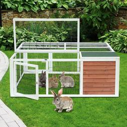 Wooden Outdoor Chicken Coop Bunny Rabbit Hutch Pet Hutch Pla