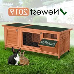 Wooden Outdoor Indoor Bunny Hutch Rabbit Pet Cage with Six L