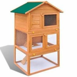 """31"""" Wooden Rabbit Hutch Small Animal Pet House Chicken Coop"""