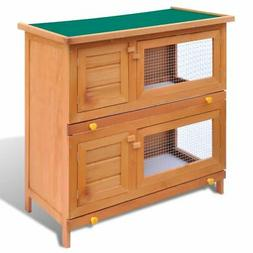 """36"""" Wooden Rabbit Hutch Bunny Cage Small Animal House Hen Po"""