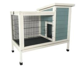 Seny Wooden Rabbit Hutch Bunny Cage Bunny Hutch for Indoor O
